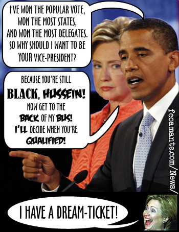 Hillary wants Barack for her Vice-President