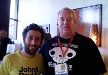 Simon Helberg and Kelly Parks