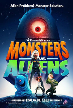 monsters vs alien robots movie poster