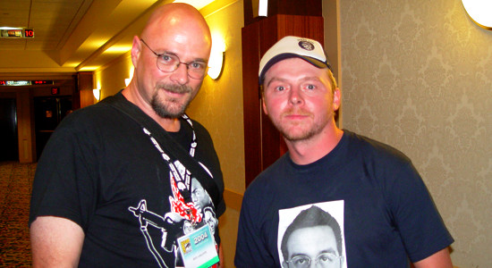 Feo and Simon Pegg