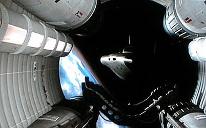 shuttle docking in space