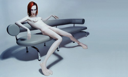 Marilyn Manson in recline