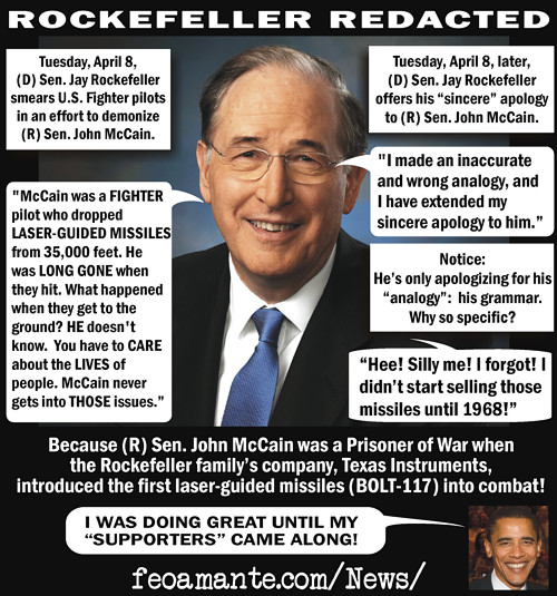 Jay Rockefeller red-handed and redacted