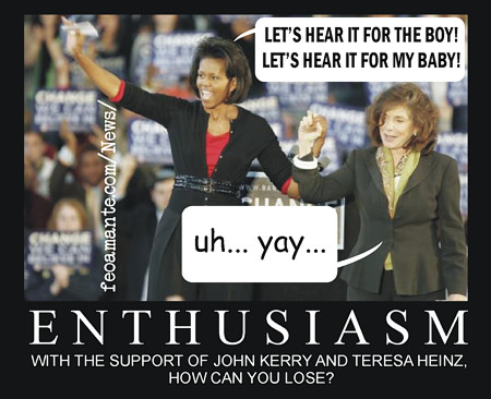 ENTHUSIASM - Michelle Obama and Theresa Heinz