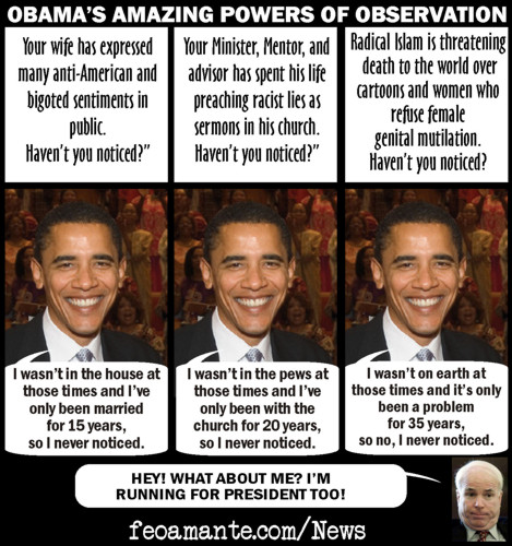 Obama's Amazing Powers of Observation!