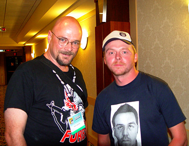 Feo Amante and Simon Pegg