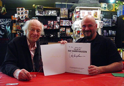 Ray Harryhausen and Feo Amante